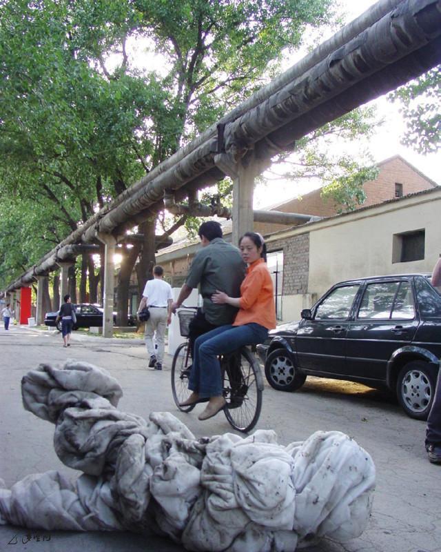 2005年《呼吸I》於北京大山子798藝術區之演出。