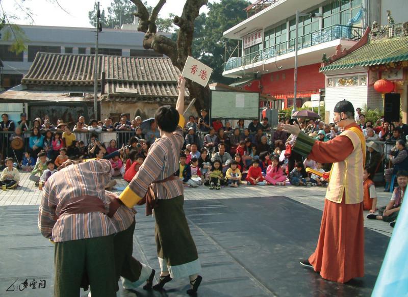 2004年《香港船與島的故事》於大澳的演出。