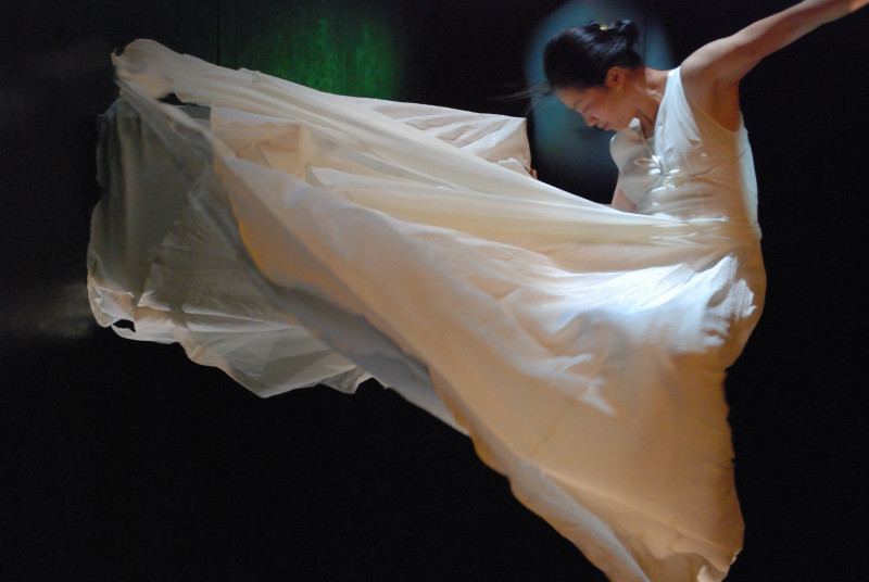 嚴明然之自編自演作品《枯榮》於深圳之演出。